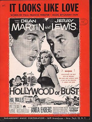 It Looks Like Love 1956 Hollywood or Bust Dean Martin Jerry Lewis Sheet Music