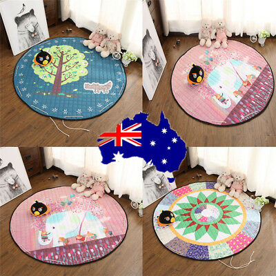 Portable Baby Gym Play Mat Crawling Blanket Soft Cotton Toys Storage Bag ON