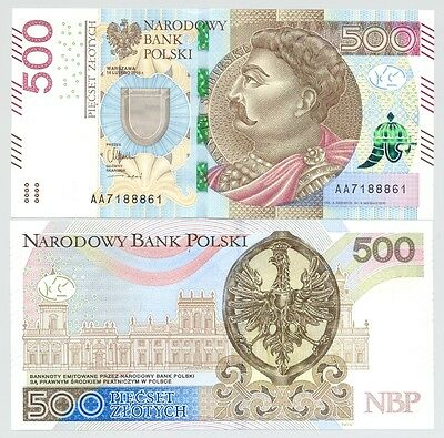 Poland 500 zloty 2016 P-NEW  UNC issue 2017 series AA