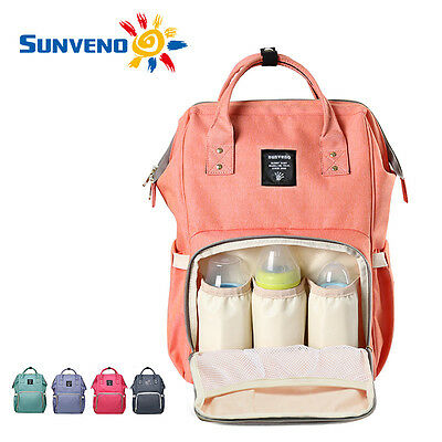 Sunveno Multifunctional Baby Diaper Backpack Mommy Backpack Nappy Changing Bag