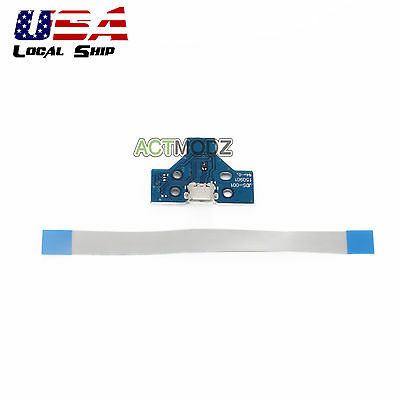 Repair Parts 14 PIN USB Charger Charging Port PCB Board For PS4 Controller Blue