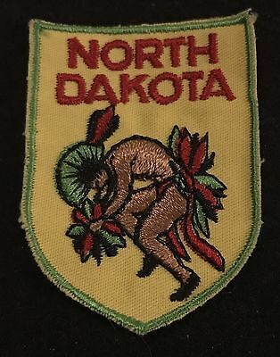 NORTH DAKODA Vintage Patch State Capital Souvenir Travel VOYAGER Embroidered