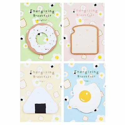 Cute Food Label Toast Egg Sticky Notes Page Marker Memo Notepad Stationery
