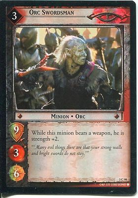 Lord Of The Rings CCG Foil Card RotEL 3.C98 Orc Swordsman