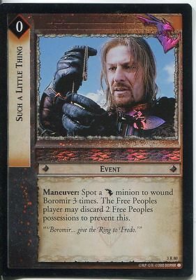 Lord Of The Rings CCG Foil Card RotEL 3.R80 Such A Little Thing
