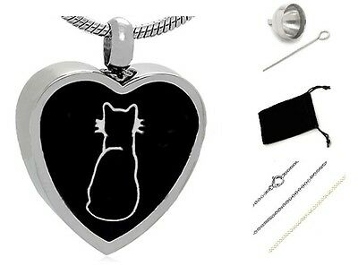 Pet cremation Urn,Memorial Cremation Jewelry,Pendant,Keepsake Ashes,Cat silver