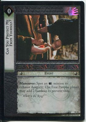 Lord Of The Rings CCG Foil Card RotEL 3.R50 Can You Protect Me From Yourself