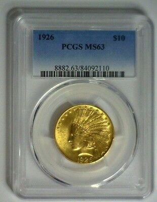 1926 ~ $10 Indian Gold ~ PCGS MS63  #110