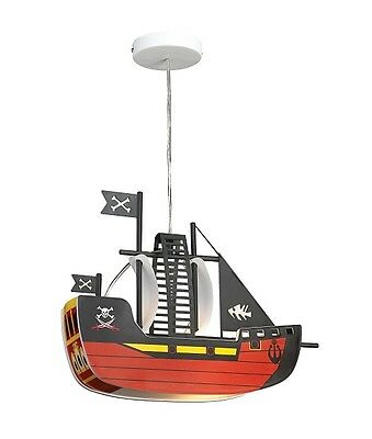 Kid's Room Hanging Ceilings Children Light Baby Lamp Pirate Ship Boat Boat