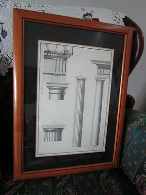 Julien Le Roy Architecture Lithograph, Pl Xv, Professionally Framed