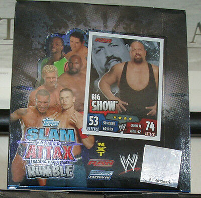 Topps * Slam Attax Rumble* 1 Display * 50 Tüten*OVP