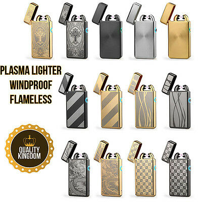 Lighter Briquet Electric électrique USB Dual Double Arc Plasma Rechargeable