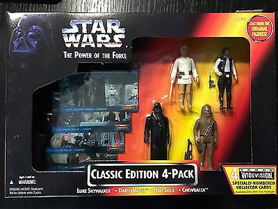 Star Wars The Power of the Force - CLASSIC EDITION 4-PACK - 1995 - Kenner #69595