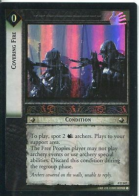 Lord Of The Rings CCG Foil Card TTT 4.U147 Covering Fire