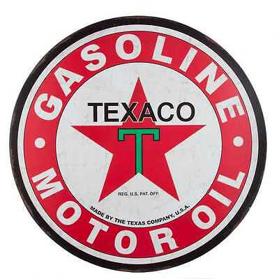 Texaco Motor Oil Collectible Metal Tin Advertising Sign - Huge (NO SALES TAX)