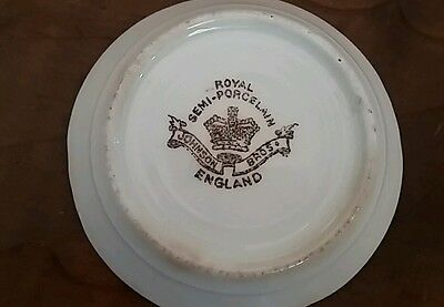 "Antique Butter Pat Dish Plate 3"" Hyacinth Johnson Bros England  Royal Porcelain"