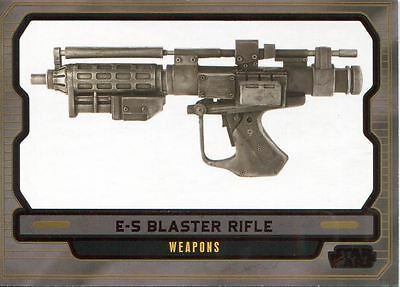 Star Wars Galactic Files 2 Red Parallel Base Card #597 E-5 Blaster Rifle