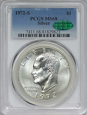1972-S Silver Eisenhower Dollar PCGS MS68 - CAC Approved!