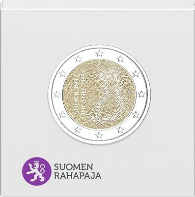 "2 € Finland 2017 ""Independent Finland 100 Years"" Proof ."