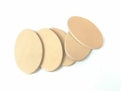 Leather oval blanks pyrography keyring name tag initials  3mm veg tan plain X 5