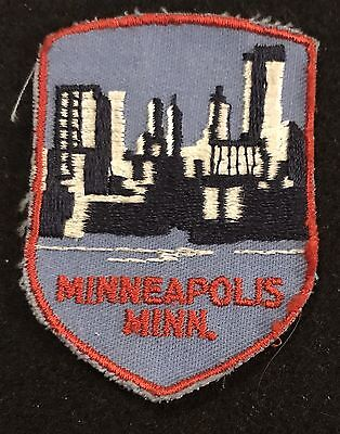 MINNEAPOLIS Vintage Patch MINNESOTA State  Souvenir Travel VOYAGER Embroidered