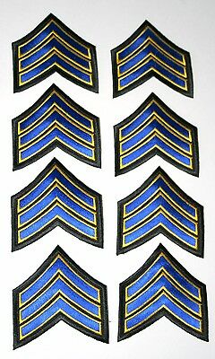 Set of 8 US Army Police MP Sargent Dress Blue Stripes Modern Patch New NOS