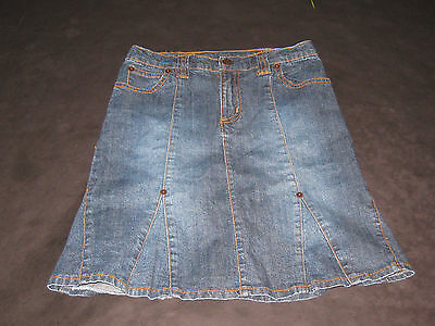 """The Childrens Place Girls Size 6X-7 Modest Jean  Skirt 16"""" Long"""