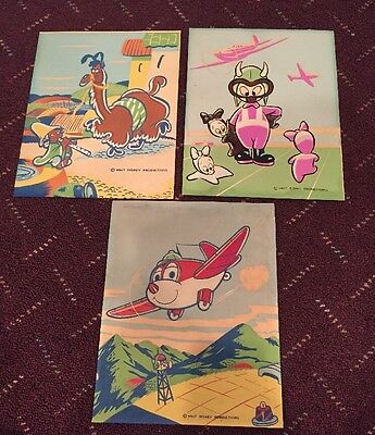 Lot Of 3 Vintage Walt Disney Production Prints