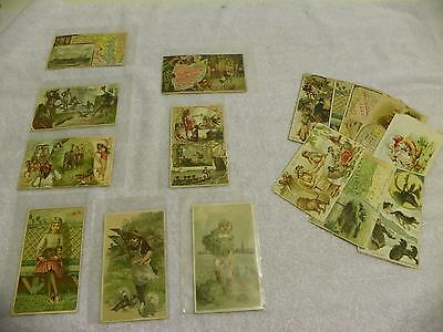 Victorian-Era Ariosa Arbuckle Coffee Promotional Advertising Collector Card Lot