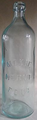 Extremely Early Moxie Nerve Food Bottle Aqua With Blob Top C. 1870-84