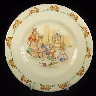 Royal Doulton Bunnykins Watching Television Side Plate 1959-75
