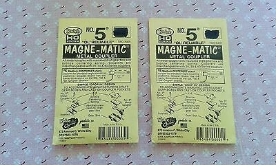 Two Packets Kadee HO Scale NO 5 Magne - Matic Couplers