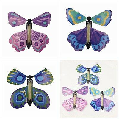 Magic Colorful Flying Butterfly Change From Empty Hands Prop Tricks Toy 5Pcs