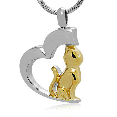 Pet cremation Urn,Memorial Cremation Jewelry,Pendant,Keepsake Ashes,Cat Heart