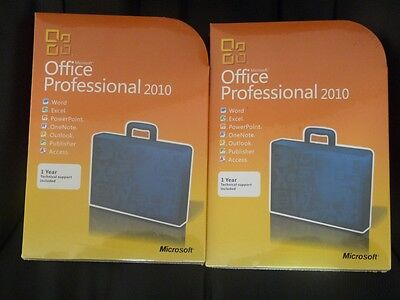 Microsoft Office 2010 Professional 32/64-bit Retail version DVD Licence