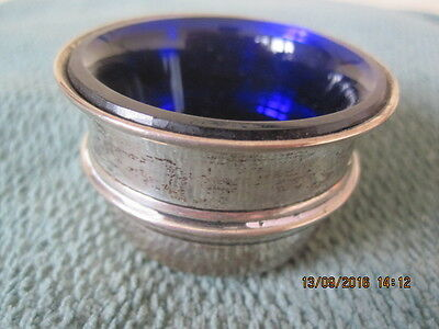 Antique Hallmarked Silver Salt Cellar A J Pepper & Co B'ham 1938 - 10.6 Gram