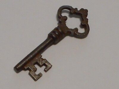 Antique Vintage Skeleton Heart Key REPRODUCTION Cast Iron SteamPunk Jewelry-><>