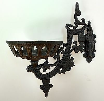 """9"""" Cast Iron Oil Lamp Wall Bracket Assembly Victorian Style - New"""