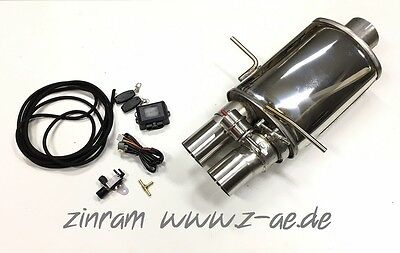 Muffler Flap control Exhaust Audi RS4 S4 B5 for 3 1/2in Zinram System