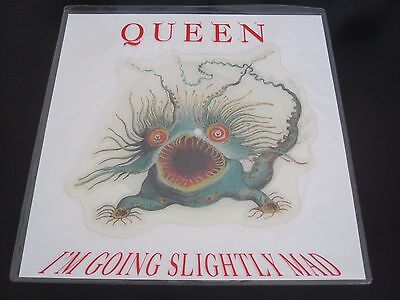 """Queen  :  I'm Going Slightly Mad - Uk 7"""" Shaped Picture Disc Single Vinyl Record"""