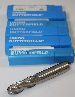 "End Mill Union Butterfield 1/2"" 4F 5110173 Lot of 6 New"