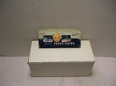 Vintage Taylor Instanta Baby Fever Guide Thermometer With Whirl-Pull Case