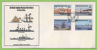 B.I.O.T. 1991 Visiting Ships set on First Day Cover