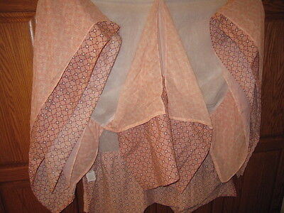 Girl's Co Calo Baby Crib Skirt/dust Ruffle/pink Print With Ruffle/cotton & Poly