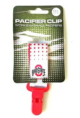 The Ohio State University Pacifier Clip Holder - Free Shipping - Licensed