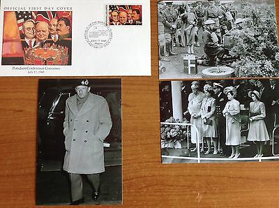 WW2 Military FDC + 3 Photos - POTSDAM CONFERENCE - Truman, Churchill, J Stalin