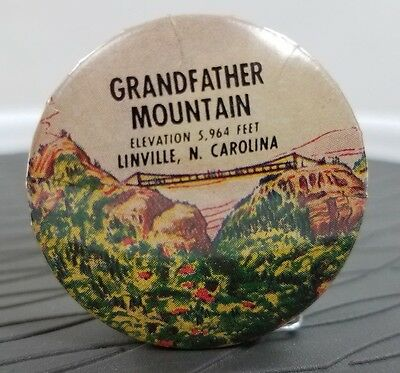 Vintage Grandfather Mountain Linville, N Carolina Pull out Measure Tape USA Made