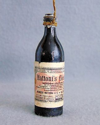 Extremely Rare Antique German Christmas Tree Ornament Mattoni's Bottle ca.1900