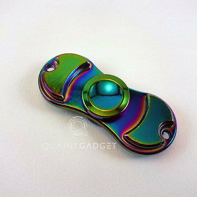 Finger Fidget Spinner Hand Focus Stress Rainbow EDC Autism Toy Metal Spin