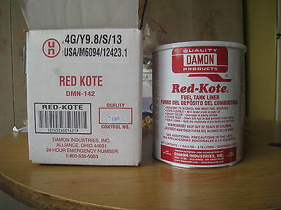 Red Kote Fuel Tank Liner Coat Sealer gas alcohol (1) Gallon Motorcycles redkote